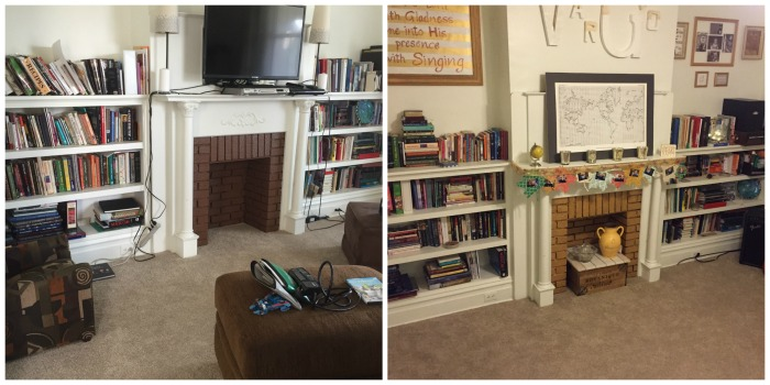 french inspired fireplace before and after