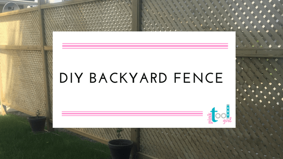 DIY backyard fence
