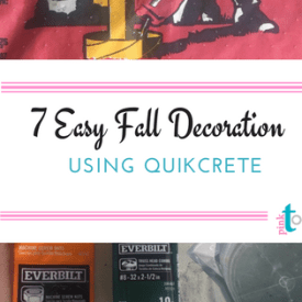 7 Easy Fall Decorations Using Quikrete