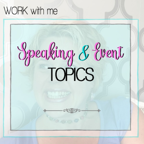 speaking and event topics
