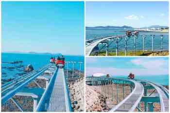 【韓旅】到韓國騎SKY BIKE去!以新高度眺望海景。原來海邊也可以這樣玩啊~