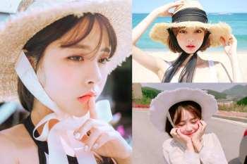【時尚】韓國美眉大流行~呆萌緞帶草帽,今夏必備單品!切記斟酌搭配,否則會造成時尚車禍唷~