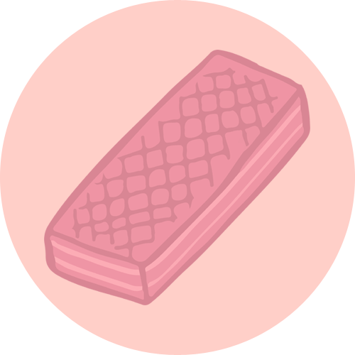 pink wafer