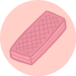 pink wafer