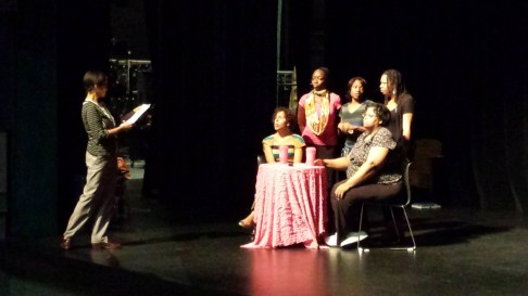 Image ofDirector Crystal Houston gives notes during the powerful & poignant Caregiver Scene in Life in the Cancer Lane