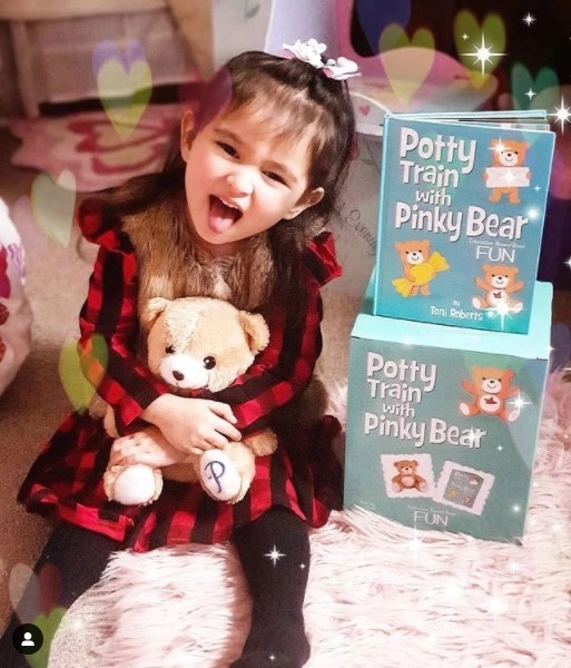 Pinky bear also gave her a book to help her understand that mishaps, accidents and mistakes could happen sometimes