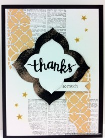 Thanks so much mixed media card