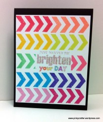 waffle flower ink rainbow colored card