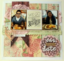 We go together like pancakes & syrup scrapbook layout