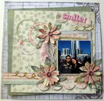 Smile scrapbook layout