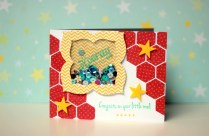 hooray for you -congrats baby card