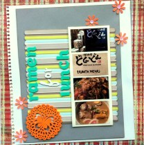 Ramen for lunch scrapbook layout