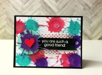 mixed media card -you are such a good friend card