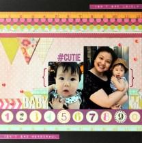 BABY M scrapbook layout