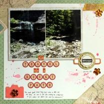 travel on rocky path scrapbook layout