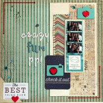 scrapping photobooth photos scrapbook layout