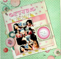 getting ready scrapbook layout