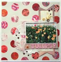 Tulips scrapbook layout