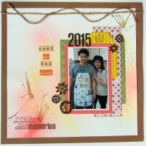 Chef of the year scrapbook layout
