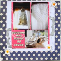 Dresses and Shoes scrapbook layout