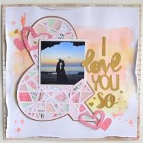 & I love you so Scrapbook layout