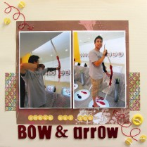 Bow and arrow Scrapbook layout