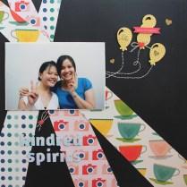 Kindred Spirits Scrapbook layout