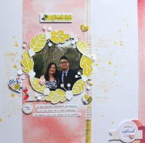 mixed media scrapbook layout - the simple life