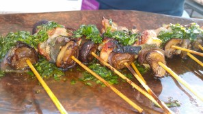 """WOOD GRILLED SPITTED QUAIL """"SPIEDINI"""""""