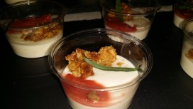 NORTHERN SPY FOOD sour cream panna cotta with rhubarb marmalade and orange granola