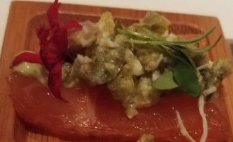 24 Hour Coriander Sea Salt Cured Salmon with Sauce Gribiche