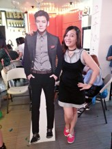 Pinkyreg with JCW standee at Ji Chang Wook Philippines 1st Fan Gathering in Manila