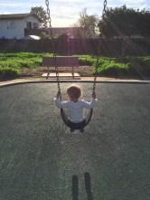 Lovely Lauren swinging on her own