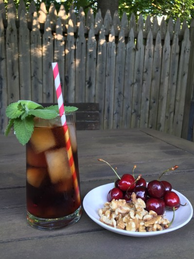 We were greeted with warm smiles, iced decaf mint tea, home brewed beer (not pictured), cherries, and walnuts