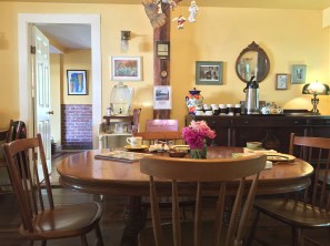 In the dining area