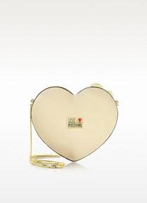 Love Moschino - Heart Satin Twistlock Clutch
