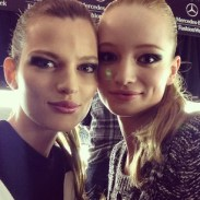 """josephine_skriver """"@maudwelzen and I backstage at DVF"""""""