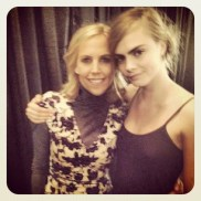 """Cara Delevingne """"With the gorgeous @toryburch"""""""