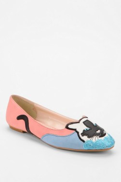 Urban Outfitters Cooperative Applique Kitty Flat