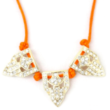 Neon Orange Crystal Necklace $24.00