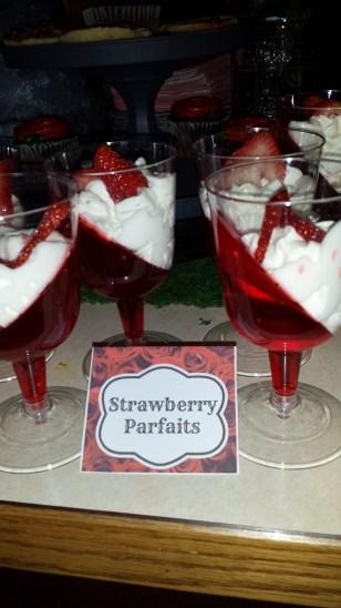 Strawberry parfaits