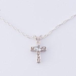 Topaz Cross Necklace