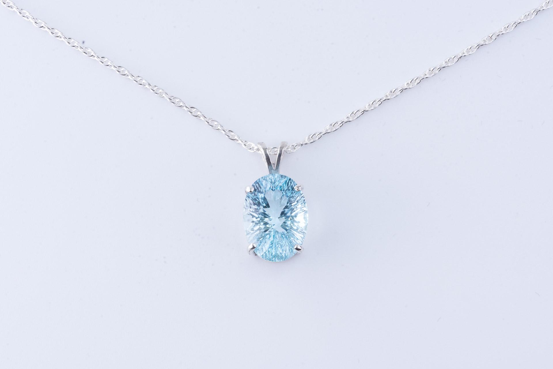 Ice blue topaz pendant pinnacle 5 minerals ice blue topaz pendant aloadofball Gallery