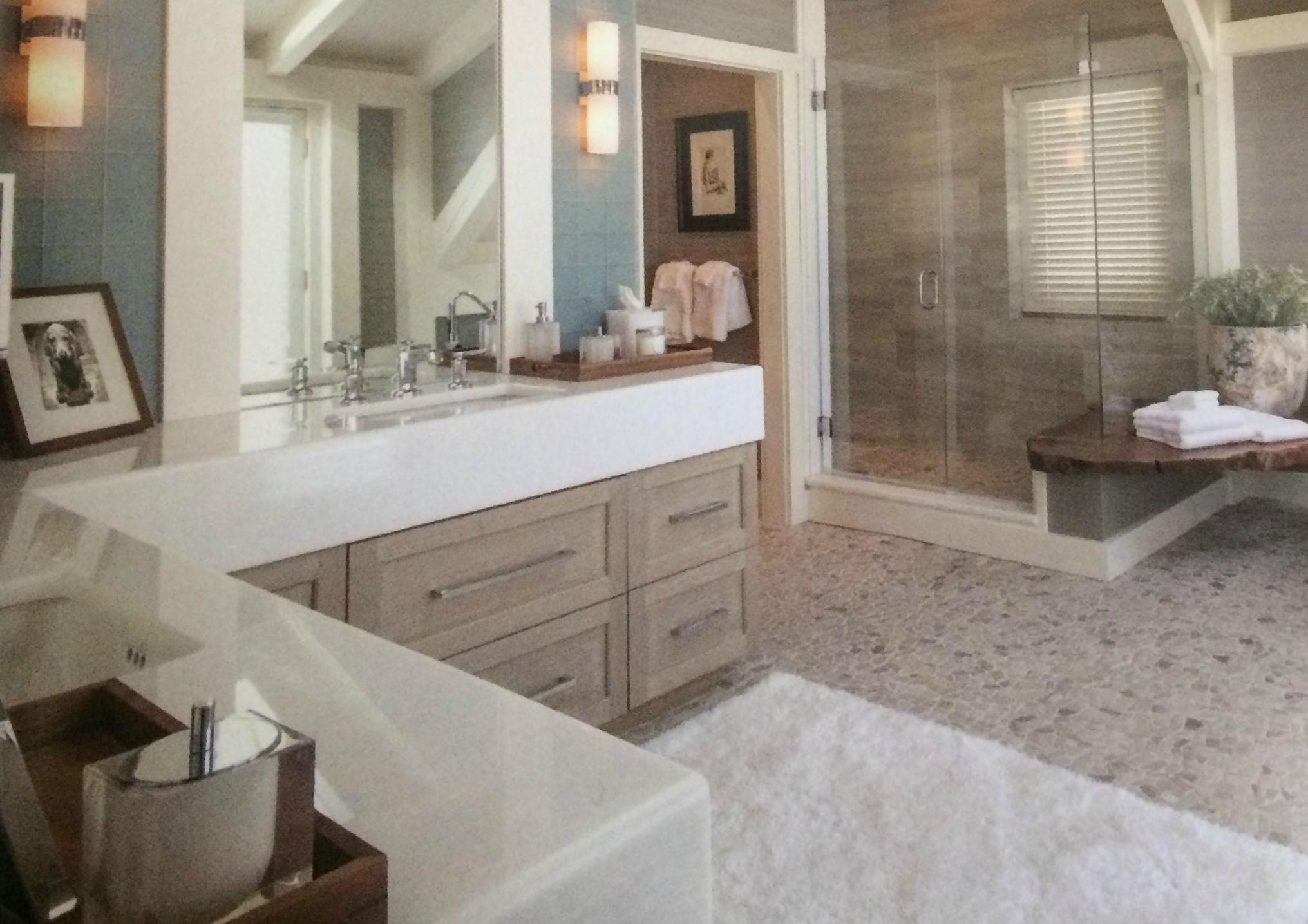 Bath cabinet details