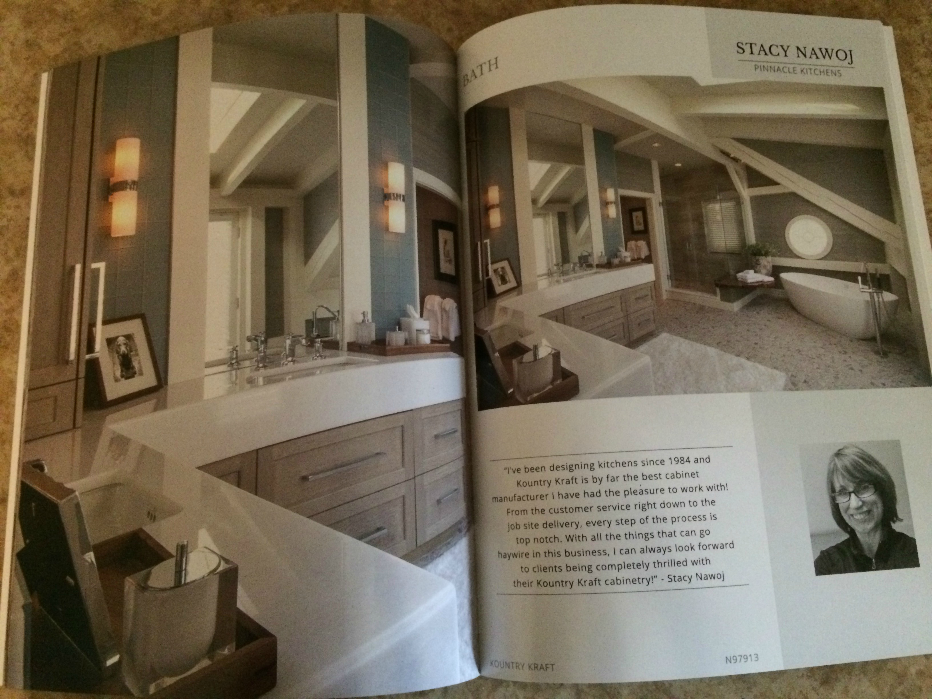 Bath design featured in Kountry Kraft catalog