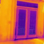 Thermal imaging of a poorly sealed door