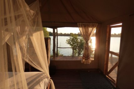 Wagtail chalet is right on the river