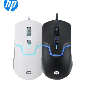 Original HP M100 1600DPI USB Mouse Wired Optical Laptop PC general cable back light gaming Black 6