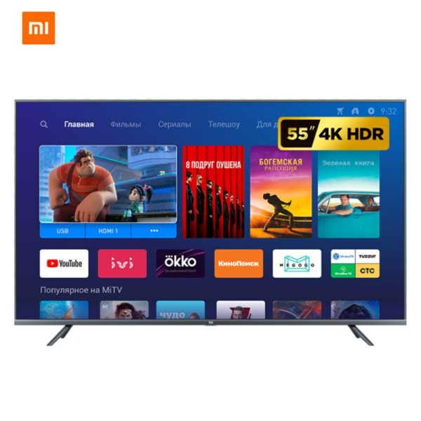 Television Xiaomi Mi TV Android Smart TV 4S 55 inches Full 4K HDR Screen TV 2GB 1