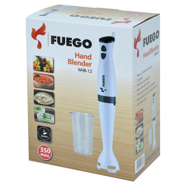 blender fuego whb 12 350w 2 level speed inox knife material plastic 1 acesories 2